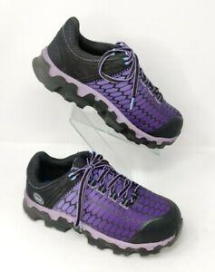 Timberland Powertrain Sport Alloy Safety Toe Purple Work Shoes Women's Size 6.5