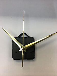Clock Movement - Quartz Gold Sweeping Hands - AA Battery Powered - Mechanism UK