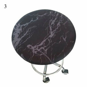 Round Chair Cover Stretch Stool Seat Reuseable Covers Bar Office Fashion Decor