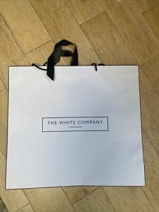 The White Company London Paper Gift Shopping Bag With Ribbon Extra Large 60 cm
