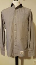New Mens SUPERDRY shirt grey/white check size L