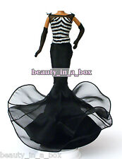 Celebrity Mermaid Ball Gown Black Silver Fashion for Barbie Doll - No Doll