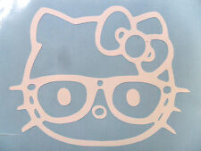HELLO Kitty I Love NERD Glasses Decal Sticker You pick COLOR CAR window