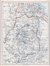 1912 MAP ~ ABYSSINIA ~ HABESH GODJAM JIMMA ASIA