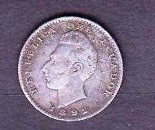 ECUADOR SILVER COIN , 1892 TF YEAR