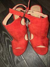 Primark Orange Wedge Heel New Tags Size 6 Buckles