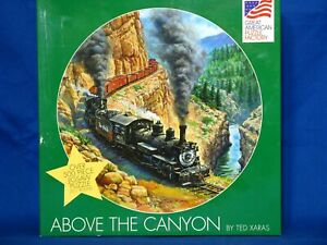 """Great American """"Above The Canyon"""" 500 Piece Jigsaw Puzzle Train Locomotive"""