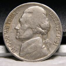 1941 S Jefferson Nickel, Nice, Circulated, Mintage of 43.4 Mil, Free Ship