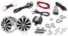 Pair New OPTIMC90 700Watt MP3 ATV Motorcycle Weatherproof Speakers 4CH Amp Kit