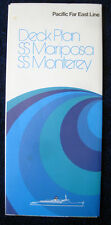 SS MARIPOSA / SS MONTEREY -- Large Deck Plans, 1973 -- Pacific Far East Line