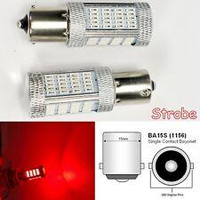 Strobe 1156 2396 P21W 3497 7506 1141 BA15S 92 LED Red Brake Light B1 JP USA Euro