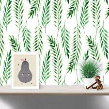 30 Aufkleber Laub Blätter DIY Wandtattoo Sticker grün Pflanzen Tattoo Deko Set