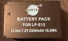 DSTE® 2x LP-E12 Rechargeable Battery For Canon 100D