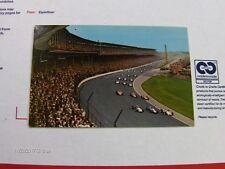 Indianapolis Motor Speedway Racing Cars Parade Lap Start Indiana 1950s postcard