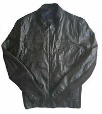 Men's ZARA MAN Premium Black Faux Leather Bomber Jacket Slim L Fits M *VGC*