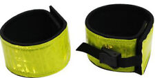 "Yellow Reflective Leg Bands 14"" x 2 1/4"" with Velcro® & Buckle Closures Set of 2"