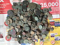 10 LOTS OF UNCLEANED ANCIENT ROMAN, GREEK, BYZANTINE, AND JUDAEA, JEWISH COINS !