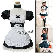 EVA Neon Genesis Evangelion Ayanami Rei Black Cosplay Anime Costume Maid Dress