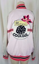 Paris Atelier & Other Stories Motel Cocktail Satin Bomber Jacket Womens 12 Pink