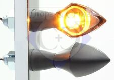 Blinker - Motorrad - LED - Pen Head - schwarz - Rauchglas