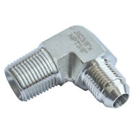 """HFS(R) Elbow, 3/8"""" Male NPT to 3/8"""" Male JIC SS304 Forged Pipe Fitting,"""