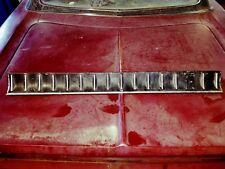 1968 dodge coronet r/t tail panel trim trunk boot deck lid plate 500 aluminum 68