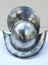 Vintage Spanish or German helmet Medieval Knight décor historic Cortez deco