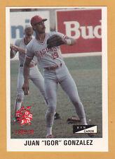 JUAN GONZALEZ CRIOLLOS DE CAGUAS 1989-90  PUERTO RICO #C-8, #042 OF 201