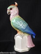 alter Rauchverzehrer aus Porzellan,schöner bunter Vogel,Papagai,Ara