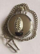 American Football TG211 Pewter on a Silver Pocket Watch Quartz fob