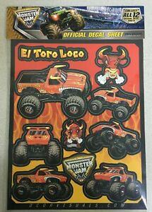 D'COR Decal Sheet El Toro Loco Red Monster Jam Monster Trucks 40-90-207
