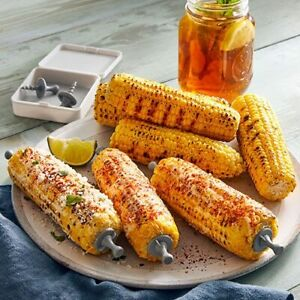 Pampered Chef CORN HOLDERS with Storage Box 4 Sets  NEW SUMMER PRODUCT!