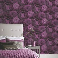 Austin Rose Papier peint floral fleurs - Arthouse Violet 675601