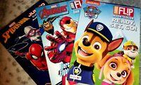 3 Coloring Books Activity Lot Disney SPIDERMAN/AVENGERS/PAW PATROL