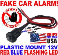 10x Dummy Fake Car Alarm 12v BLUE/RED Flashing Alternating Dash Mount LED Light