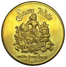 Walt Disney Snow White and 7 Dwarfs 50th anniversary medal 1987 40mm