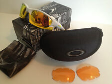 NEW Oakley Split Jacket Sunglasses Polish'd White w Fire Iridium®, Persimmon
