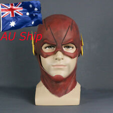 Cosplay The Flash Allen Mask Red Latex Full Head Hood Halloween Party Helmet New