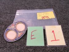Italy Hand Crafted Double Two Oval Picture Frame Floral Brass Mosaic Photo 1 3/4