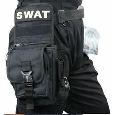 Black SWAT Hip Thigh Drop Bag - Waist and Leg Belt Fanny Pack - Military Cycling