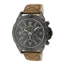 Timex T49986 Expedition Rugged Chronograph Brown/Black Leather Strap Men's Watch