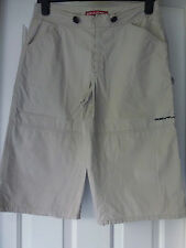 Roxy Quiksilver ladies 3/4 length trousers in beige size 4 100% cotton stylish