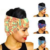 Ladies Flexible Beaded Head Wrap African Print Headscarf Headband Cap I2M7
