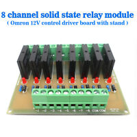 Eight Channels Solid-State Relay Module Control Panel Module DC 12V NPN
