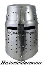 Sugarloaf Armor Helmet ~ POLISHED ~ Medieval Knight Crusader ~ Steel Armour xy52