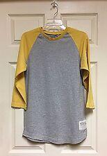 Mossimo Gray Yellow Baseball Style Kids Tee T-Shirt Size XL 16/18
