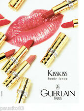 PUBLICITE ADVERTISING 046  1995  Guerlain maquillage KissKiss rouge à lèvres