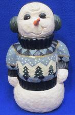 Snowman Wearing Sweater Rodney W. Leeseberg House of Hatten  1998  Christmas