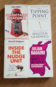 Non Fiction, Philosophical, Psychological, Political Paperback Book Bundle x4