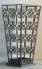 Umbrella Stand Iron Scroll with Marble Base 2148